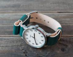 Timex with leather NATO watch strap 20mm