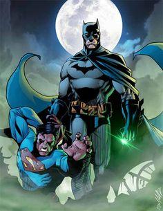 Batman vs Superman Colored