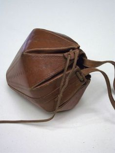 leather. bag. origami