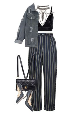 """""""Vintage"""" by seventeene ❤ liked on Polyvore featuring Topshop, Boohoo, Chanel, Paul Andrew and vintage"""