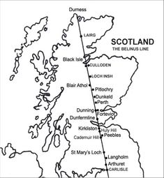 This diagram shows a ley line running through Scotland.