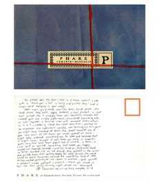 Phare (AKA Jane Mayle's previous label/shop). Postcard.