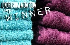 WINNER! How to refresh your towels from unOriginalMom Over time, towels build up detergent and fabric softener, leaving them unable to absorb as much water and smelling funky. Recharge them by washing them once with hot water and one cup vinegar, then a second time with hot water and half cup baking soda. This strips the residue and leaves them fresh and able to absorb more water again.