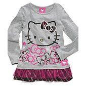 Hello Kitty Kids Shirt, Little Girls Graphic Ruffle-Hem Top #HelloKittyletsPlay #KuKeeapp