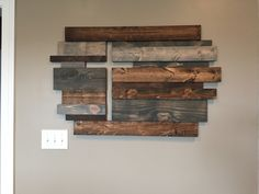 Wooden cross wall decor. God is Good! Love my hubbies gifts and talents!