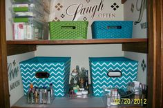 After! Bathroom cabinet of Virtual Organizing Client