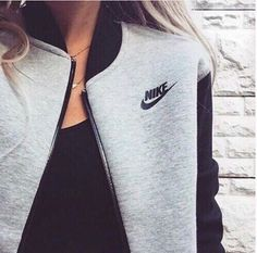 jacket nike grey and black nike jackett grey Mens New Years Eve Outfit Look Fashion, Teen Fashion, Runway Fashion, Womens Fashion, Fashion Tips, Fashion Trends, Fashion Shoes, Nike Fashion, Fashion Ideas