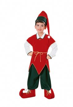 Velvet Child Elf Costume - The elves are Santa's dedicated workers who help him make toys for Christmas. Your child will look adorable in this Elf Costume for Christmas this year. It comes with tunic, pants, cord belt, shoe covers and hat. Fun for Santa's village, school plays or holiday photos. #YYC #Calgary #costume #elf #Christmas