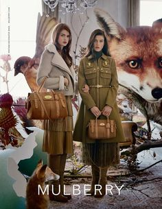 Adentro Style: inspirations/ Tim Walker/ Mulberry/ Coats/ fox/ animals