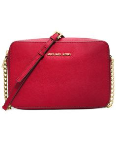 MICHAEL Michael Kors Jet Set Travel Large Crossbody in Chili