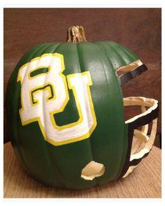 #Baylor Pumpkin Helmet -- Sic 'Em!