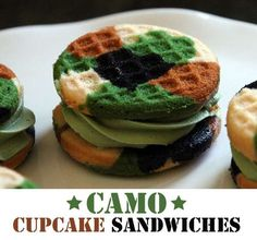 The 'Camo Cupcake Sandwiches' are a Hilarious Sweet Treat #DIY