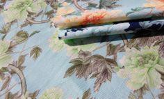 Cotton + Quill Terrace Collection   Shu Te's Chintz :: Mint, Mandarin, Midnight