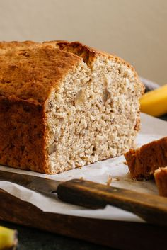 """This banana bread from Mark Bittman's """"How to Cook Everything"""" is really something special. One-fourth of the flour is whole wheat, which contributes a kind of depth you'd miss if it weren't there. There are walnuts — not unusual, but again, you'd miss them if they weren't there. And the key, secret ingredient, is coconut. (Craig Lee for The New York Times)"""