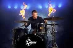 Sasha Leahovcenco is an Entertainment Photographer in Los Angeles Gretsch Drums, Music Pics, Drum Kits, Percussion, Music Instruments, Fire, Entertaining, Drummers, Photography