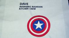 Personalized Kids or Adult Avengers Mansion by mrsstitchsboutique, $22.95