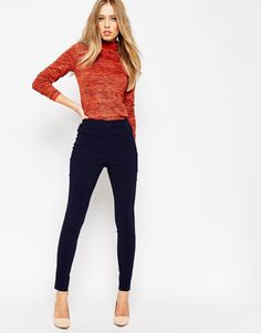 ASOS High Waist Trouser in Skinny Fit
