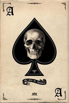 Ace of Spades Skull Art Poster Print - dark goth style with banner text at the bottom, could push this layout farther and make it more interesting Totenkopf Tattoos, Arte Sketchbook, Maori Tattoos, Art Et Illustration, Halloween Illustration, Poster Prints, Art Prints, Grim Reaper, Skull And Bones