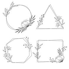 Hand Embroidery Patterns Flowers, Embroidery Art, Drawing Borders, Flower Background Design, Watercolor Flower Wreath, Blackboard Art, Doodle Frames, Book And Frame, Floral Doodle