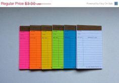 Library Cards Note Pads by BearsleyandBumski on Etsy, $2.70