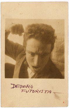 Fortunato Depero - Autorretrato con puño. Roma 1915