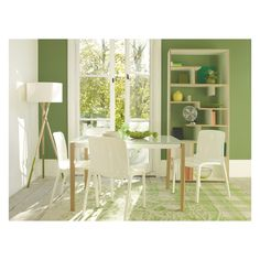 TALLOW Stackable white dining chair