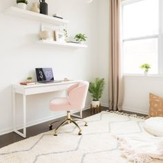 This adjustable chair keeps you comfy, stylish and study-ready. The wingback design is both classic and chic. Bedroom Desk, Room Ideas Bedroom, Room Decor, Bedroom Inspo, Minimalist Bedroom Small, Minimalist Home Interior, Minimalist Decor, Minimalist Architecture, Simple Interior