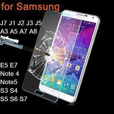 Закаленное Стекло Для Samsung Galaxy J7 J1 J2 J3 J5 A3 A5 A7 A8 E7 E5 S3 S4 S5 S6 S7 Защитная Крышка Примечание 4 Note5 Гвардии фильм