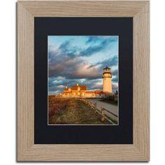 Trademark Fine Art Windy Point Canvas Art by Michael Blanchette Photography Black Matte, Birch Frame, Assorted