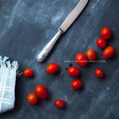 Cherry tomatoes still life.  Food photography ~ Food styling www.flaviamorlachetti.com