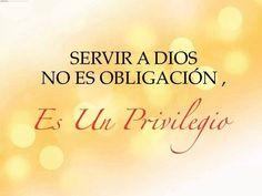 Serving God is not an obligation, it's a privilege. . .Amen!