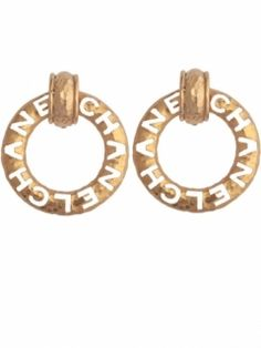 Vintage Chanel Cut Out Earrings