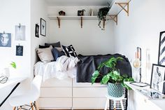 Tiny studio apartment Follow Gravity Home: Blog - Instagram - Pinterest - Facebook - Shop