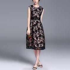 2016 New Fashion Elegant Bow Organza Sleeveless Dress