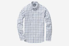 Rhodes Collar Oxford - Grey Tattersall | Classic Oxford Cotton Casual Shirt - Bonobos Men's Clothes - Pants, Shirts and Suits