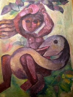 Eve and the Serpent - Leo Roth #chavah