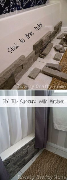 Update Your Boring Builder Bathtub With Airstone. Update Your Boring Builder Bathtub With Airstone. Source by The post Update Your Boring Builder Bathtub With Airstone. appeared first on Mack Makeovers. Diy Bathroom, Home Projects, Airstone, Remodel, Home Remodeling, Diy Bathroom Remodel, Amazing Bathrooms, Home Diy, Small Bathroom Makeover