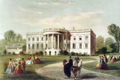 White House History Timeline with few pictures and historical information about White House through the years by Historical Society of Washington, D. White House Usa, White House Washington Dc, American Mansions, Facade House, House Facades, Old Cabins, Historical Society, Historic Homes, White Paints