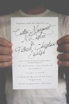Modern - Romantic - Minimal Wedding Invitations / Black and White by shopCharlieWhiskey