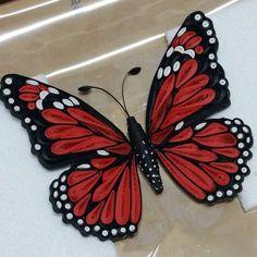 #종이 #종이감기 #종이감기공예 #나비 #작품 #취미 #예쁘다 #paper #quilling #paperquilling #Red #Butterfly #RedButterfly #두번째 나비~♡ #많이 만들어서 액자 넣고 싶다~~^^ #