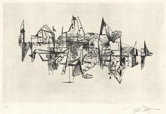 Moran Robert  untitled,  etching / handmade paper size of the plate 31 x 48 cm sheet size 50 x 65 cm