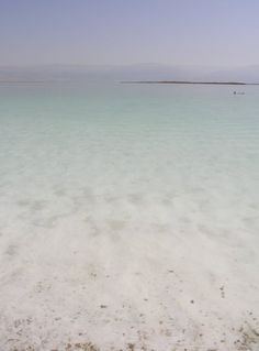 See the Dead Sea bordering Israel and Jordan. There are so many biblically historical importances to this body of water. My father said it was very moving to see, because so many visit for religious purposes.