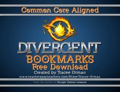 Divergent Chapter Bookmarks Reading Log {Free}