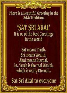 Sikh way of greeting . Sikh Quotes, Gurbani Quotes, Punjabi Quotes, Qoutes, Guru Granth Sahib Quotes, Shri Guru Granth Sahib, Sikhism Religion, Guru Nanak Ji, Guru Nanak Jayanti