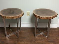 Set Live Edge Table, Stool, Furniture, Home Decor, Homemade Home Decor, Stools, Home Furnishings, Chair, Decoration Home