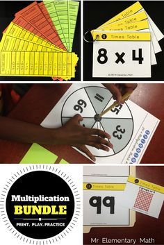 Check out a fun way to motivate your students to learn and practice their multiplication facts. Your students will engage in hands-on games and activities that can be easily used in math centers.  There are 3 multiplication games, recording sheets, study cards and a quick assessment for each fact (2 through 12).