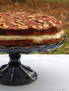 Bee Sting Cake (Bienenstich) - From Cinnamon and Spice and Everything Nice!