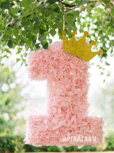 Numéro un Pinata Light Pink Rose Petals Look Fluffy Birthday Pinata, Baby Girl Birthday, Princess Birthday, Birthday Party Decorations, 1st Birthdays, First Birthday Parties, Light Pink Rose, Minnie Mouse Party, Rose Petals