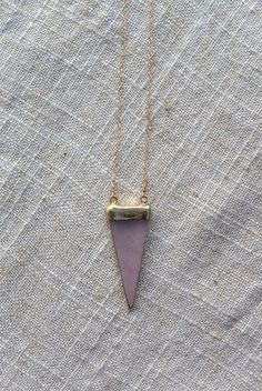 Pink Geo Pendant Gold Filled by ByGennaLou on Etsy