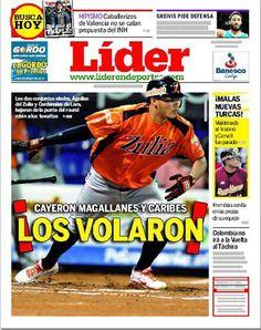| CAYERON MAGALLANES Y CARIBES | ¡LOS VOLARON! |Es la portada de este 4 de enero